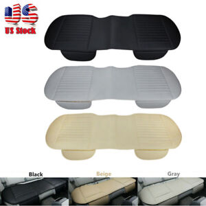 Car Rear Back Seat Cover Protector Pu Leather Mat Pad Chair Cushion Universal