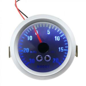 Boost Gauge 52mm 30in Hg 0 20 Psi Pressure Turbo Meter 2 With Pvc Hose Fitting
