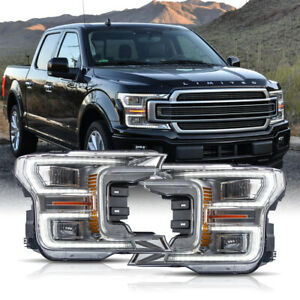 Born For 18 20 F150 Limited Chrome Led Reflector Switchback Sequential Headlight