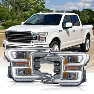 Customized Chrome Full Led Headlights Sequential Born For 18 20 F 150 Limited