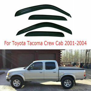For Toyota Tacoma Crew Cab 2001 2004 2003 2002 Window Visors Vent Sun Rain Guard