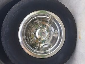 4 Dodge 16 Dual Steel Wheel Simulators Dually 8 Lug Rim Skins Liners Covers