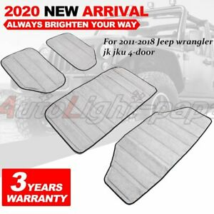 4x Headliner Roof Heat Insulation Cotton Kits For Jeep Wrangler Jk Interior