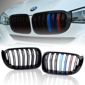 Bmw X3 Grill For 14 17 X4 F25 F26 Front Bumper Grille M color Gloss Black Grill