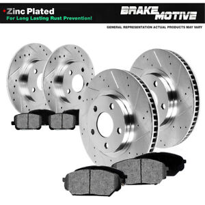Front Rear Drill Slot Brake Rotors Pads For 1999 2004 Ford Mustang Sn95