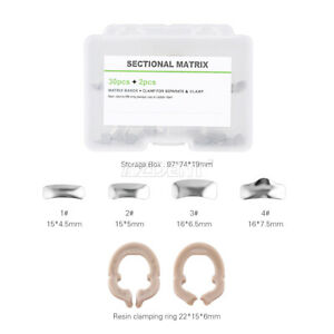 Dental Metal Matrices Sectional Contoured Matrix Refill Bands Clamping Ring