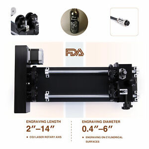 4 wheel Rotary Axis Attachment Fits Co2 Laser Engraver Cutter Engraving Machine