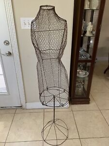 Vintage Early Century 1900 s Metal Wire Dress Form Mannequin