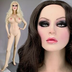 Sexy Big Ddd Bust Realistic Female Life Size Hot Mannequin Man Cave Adult Store