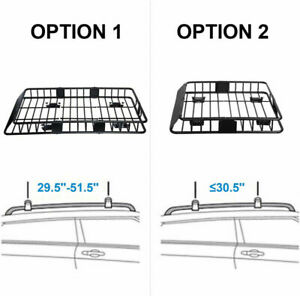 Universal Extension Roof Rack Cargo Basket Carrier Car Suv Top Luggage Holder Us