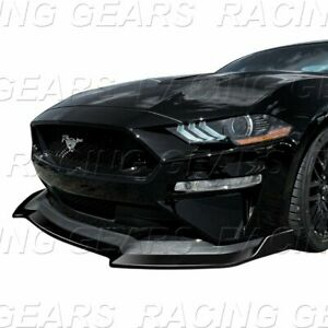 Fit 2018 2020 Ford Mustang Gt Style Painted Black Front Bumper Spolier Lip Kit