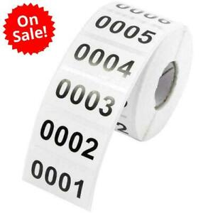 Inventory Labels 1000 Consecutive Number Stickers Product Claiming Coding New