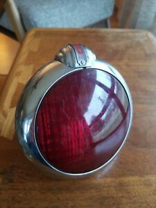 Vintage Unity Chrome Swivel Red Glass Lens Taillight Model H 2 1950s Light