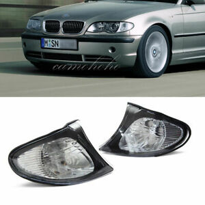 For Bmw 3 Series E46 2002 2005 1 Pair Corner Turn Signal Light Cover Clear Lens