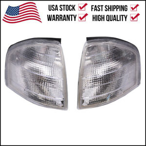 Pair For Mercedes Benz C Class W202 1994 2000 Corner Lights Turn Signal Lamps Us