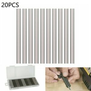20pcs 82mm Reversible Electric Planer Blades Boxed Hss For Mkt Bosch Universal