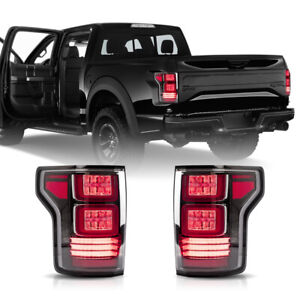 Full Led Red Clear Taillight Set Of 2 Lh And Rh Rear For 17 20 Ford F 150 Raptor