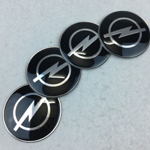 65mm 2 55 Wheel Center Caps Black Logo Emblems Badges Decals Stickers Fit Opel