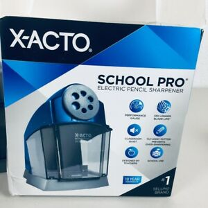 Xacto Electric Pencil Sharpener 4 1 2 x7 x6 3 6 Blue gray