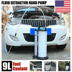 Manual 9 Liter Oil Fluid Changer Vacuum Extractor Pump Transfer Tank Remover