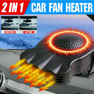 3 Outlet Car Heater 2 In 1 Heating Cooling Fan Defroster Defogger Thermostat