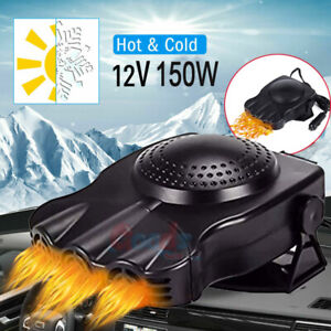 12v Car Heater Defroster Demister Heating Fan 3 Outlet Plug In Cigarette Lighter