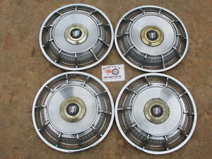 1962 Buick Electra 225 15 Fin Style Spinner Wheel Covers Hubcaps Set Of 4