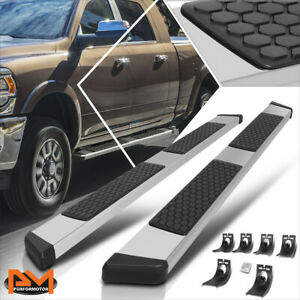 For 09 20 Dodge Ram 1500 3500 Crew Cab 5 5 Step Nerf Bar Running Boards Silver