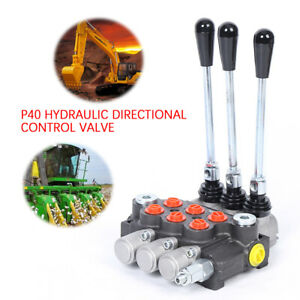 3 Spool Hydraulic Directional Control Valve Double Acting 13gpm Manual Operate