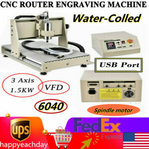 3 Axis Cnc 6040 Vfd Router 1500w Woodworking Diy Engraver Milling Machine