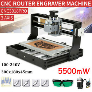 Cnc 3018 Pro Diy Router 2in1 Engraving Milling Kit With 5500mw La Ser Head Y3v6