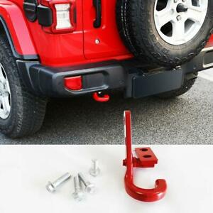 Rear Bumper Trailer Hook Hitch Red Tow Hook Trailer For 18 20 Jeep Wrangler Jl