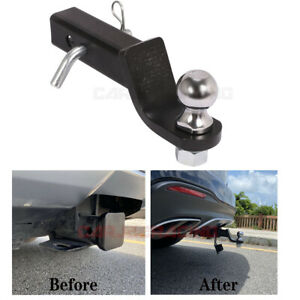 2 Drop Hitch Chrome Ball Mount Trailer Hitch 2in Receiver Heavy Duty Tow Truck