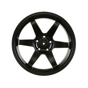 18 Te37 Volk Style Staggered Black Wheels 18x8 35 18x9 30 5x114 3 Set Of 4