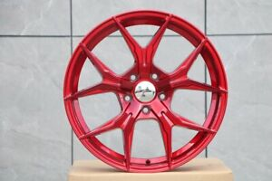 19 Rex Style Staggered Red Wheels 19x8 5 19x9 5 35 5x114 3 set Of 4