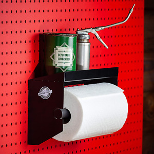 Pegboard Paper Towel Holder With Peg Board Shelf By Madd Tools Black Pegboard