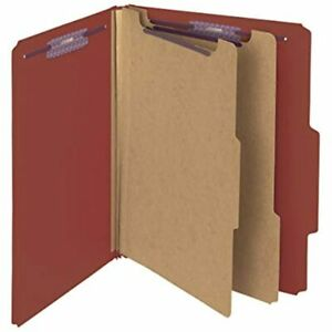 Pressboard Classification File Folder With Safeshield Fasteners 2 Dividers 10