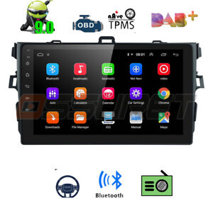 For Toyota Corolla 2006 2012 Gps Navigation Android 9 1 Car Stereo Radio Wifi Fm