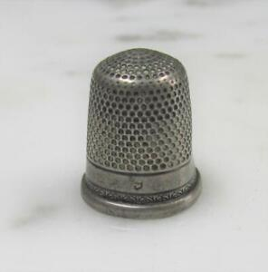 Vintage Sterling Silver 9 Thimble 3 Grams 4 D325