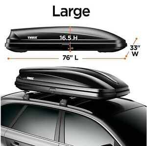 Thule Pulse Rooftop Waterproof Cargo Box Strong Abs Plastic Construction Large