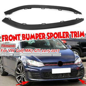 For Vw Golf Gti Mk7 2015 2017 Front Bumper Spoilers Left Right Trim Moulding