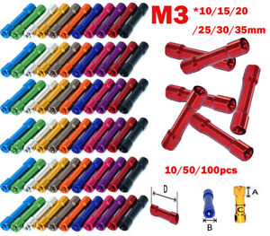 10 50 100pcs M3 Aluminum Standoff Column Round For Fpv Quadcopter Drone 2020 Hot