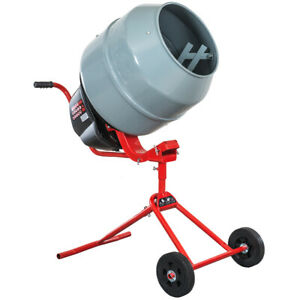 Portable Cement Mixer 4 6 Cubic Ft Electric Power For Mixing Stucco Concrete