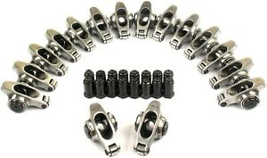 Stainless Steel Roller Rocker Arms 1 6 Ratio 7 16 Studs Chevy 305 327 350 400