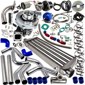 Universal Turbo T04e 10pc T3 t4 Kit Stage Iii wastegate intercooler piping
