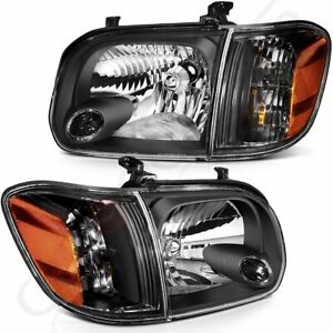 Fits 2005 2006 Toyota Tundra 05 07 Sequoia Headlights Assembly Replace Headlamps