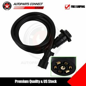 8 Ft Trailer Plug Extension Cord 7 Way Pin Blade Wire Round Rv Plug Male Female