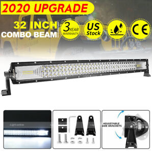 Cree 32inch Led Light Bar 3000w Pk 30inch Driving Offroad Flood Spot Combo Beam