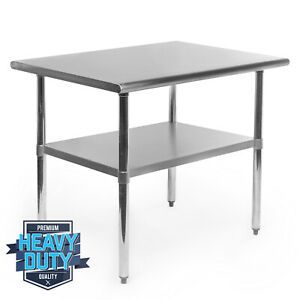 Open Box Stainless Steel Commercial Kitchen Work Food Prep Table 24 X 36