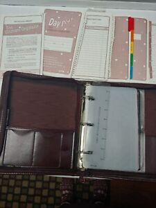 The Ultimate Organizer Day Plus Planner W Insert Pages Brown Faux Leather Zip
